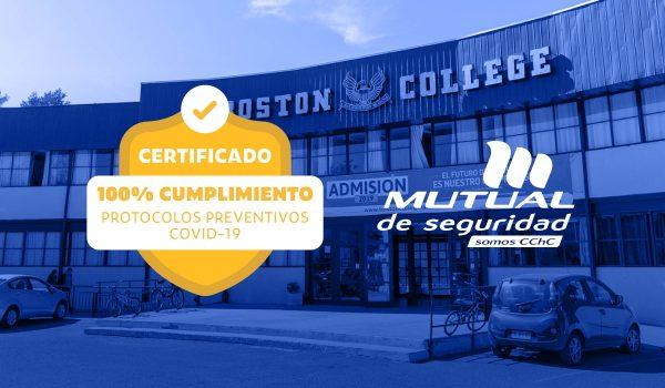 Boston College La Farfana Recibe Sello Mutual de Seguridad Covid-19